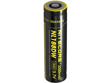 Nitecore NL188DW 18650 3200mAh 3.7V Protected Lithium Ion (Li-ion) Button Top Battery for R25 Flashlight - Bulk