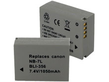 Empire BLI-356 1050mAh 7.4V Replacement Lithium Ion (Li-Ion) Digital Camera Battery Pack for the Canon NB-7L