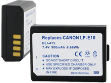 Empire BLI-415 900mAh 7.4V Replacement Lithium Ion (Li-Ion) Digital Camera Battery Pack for the Canon LP-E10