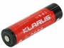 Klarus 18650 battery left side angle