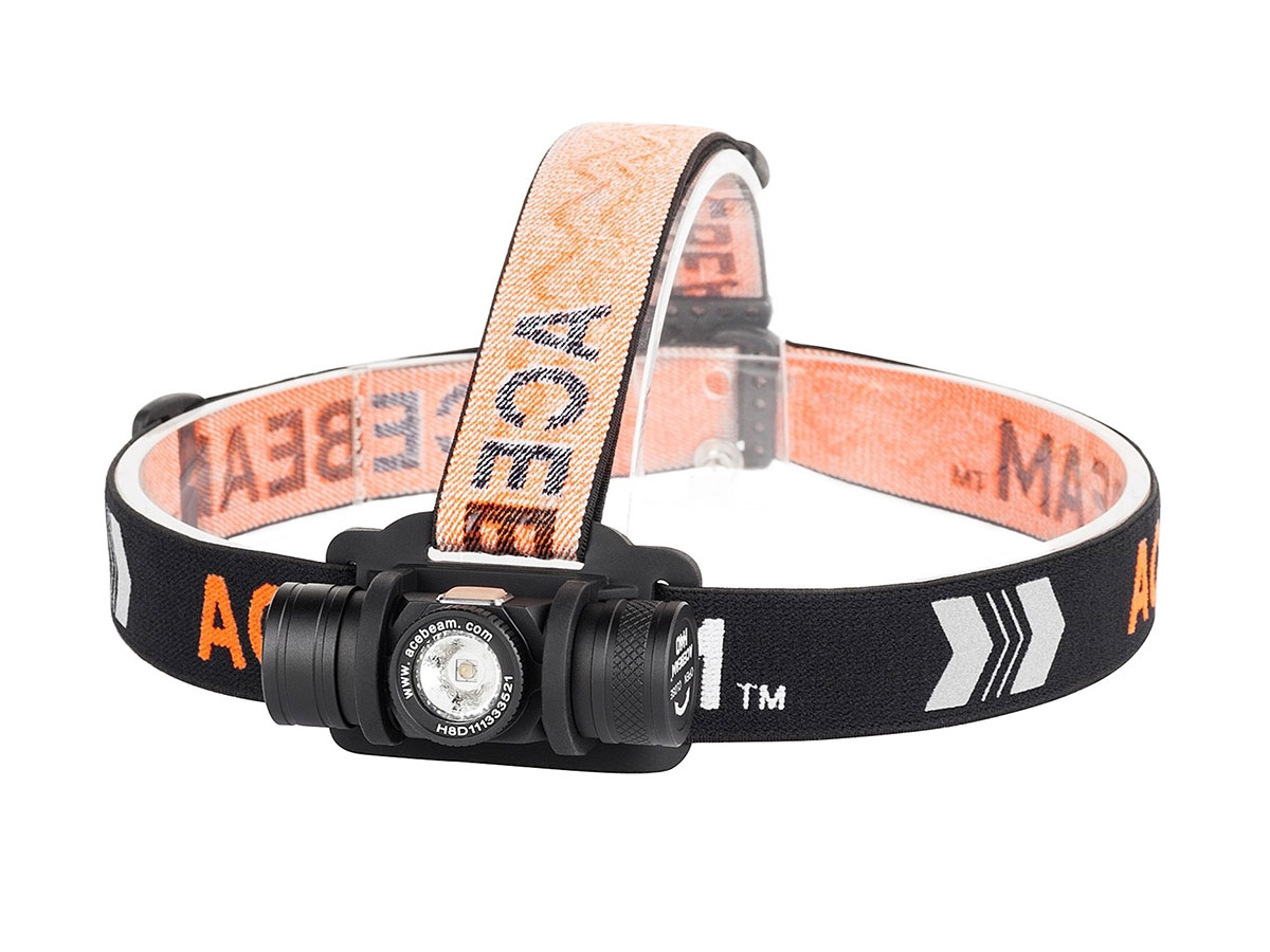 Acebeam H40 headlamp on a white background