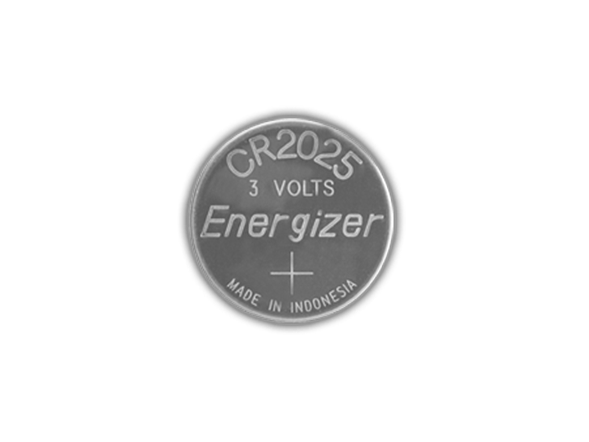 Energizer ECR2025 coin cell front view