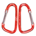 Ultimate Survival Technologies 6cm Carabiner Clips Point-of-Sale Display Box (PDQ) - 12-Count of 2 Pack Retail Cards - Assorted Colors (20-02112-PDQ12)