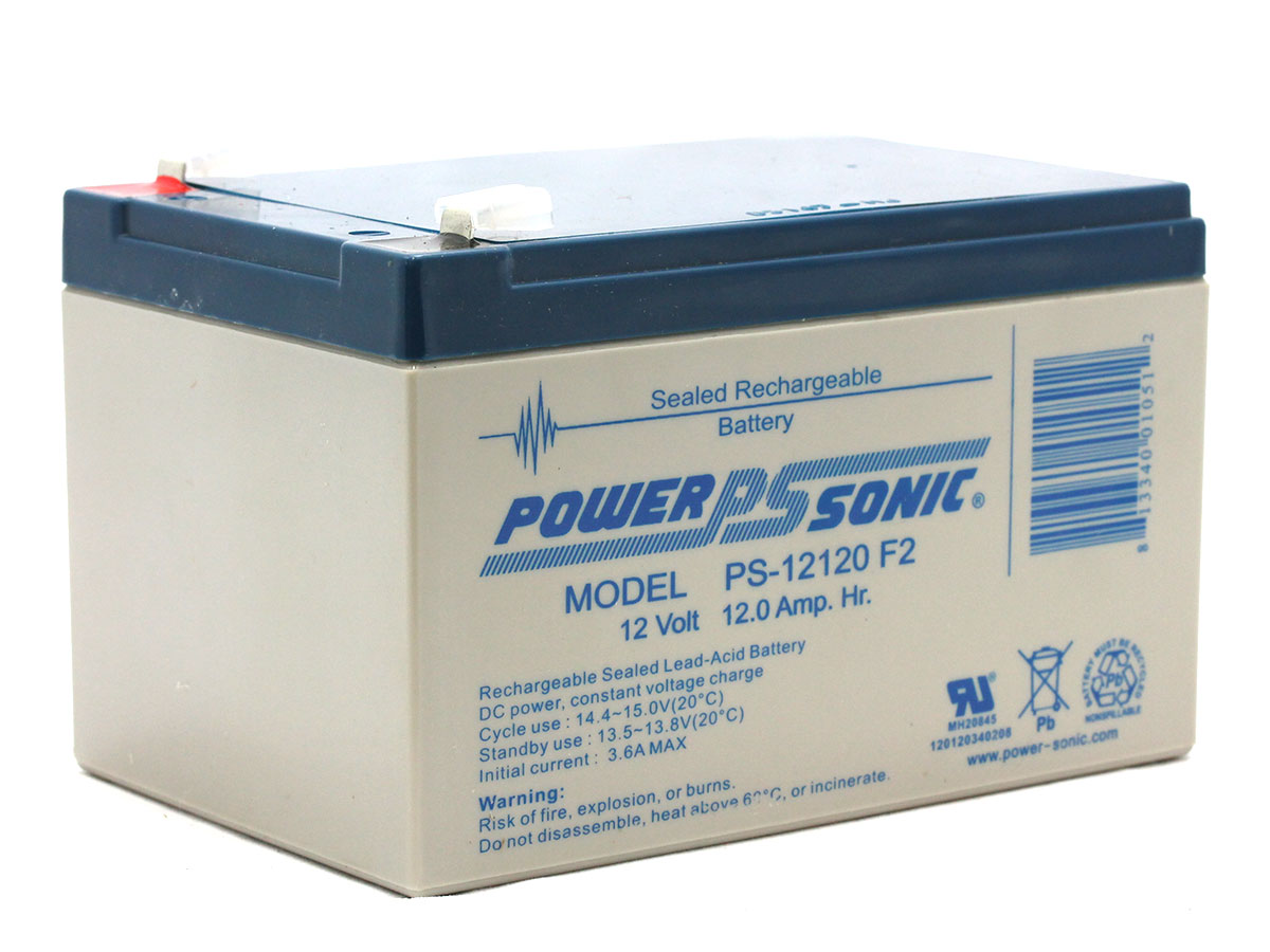 Handles extended on Powersonic PS-12120 battery