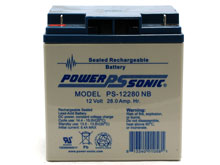 Power-Sonic AGM General Purpose PS-12280 28Ah 12V Rechargeable Sealed Lead Acid (SLA) Battery - NB Terminal