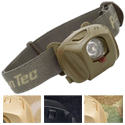 Princeton Tec EOS MPLS Tactical Headlamp - 1 x LED - 60 Lumens - 4 x Colored Filters - Includes 3 x AAAs - Black, Multi Cam, Olive Drab or Tan