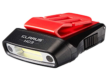 Klarus HC3 Visor Clip Motion-Sensing Rechargeable Headlamp - 100 Lumens - Includes Built-in 500mAh Li-ion Battery pack