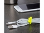 nite ize 3 inch reusable twist tie holding cords together with phone in the background