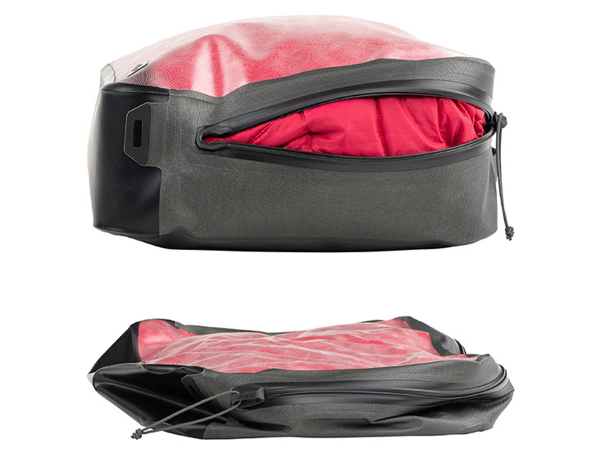 nite ize waterproof large packing cube fully packed, compressed and not