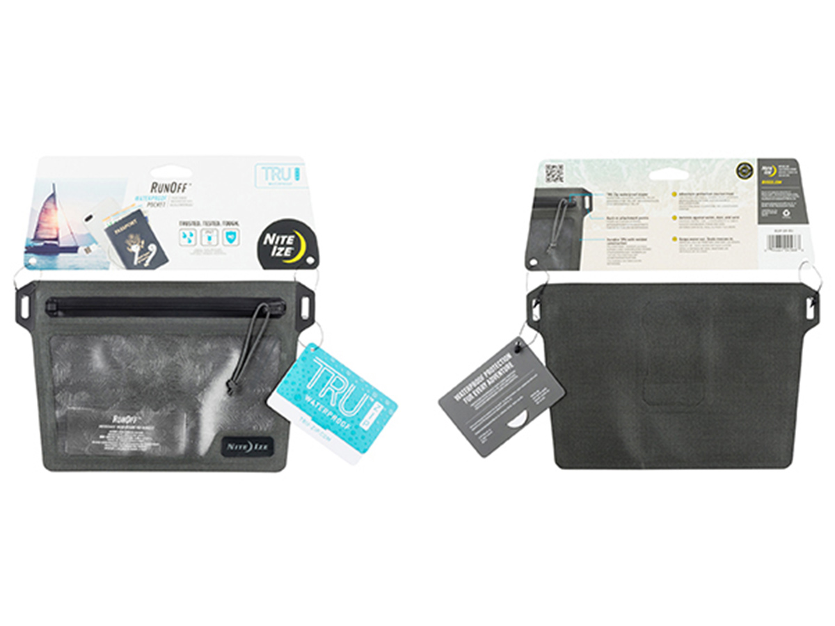 nite ize waterproof pocket retail package showing front and back
