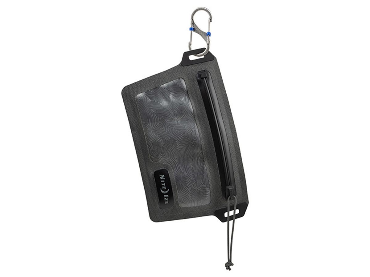 nite ize waterproof wallet hanging from attachment point