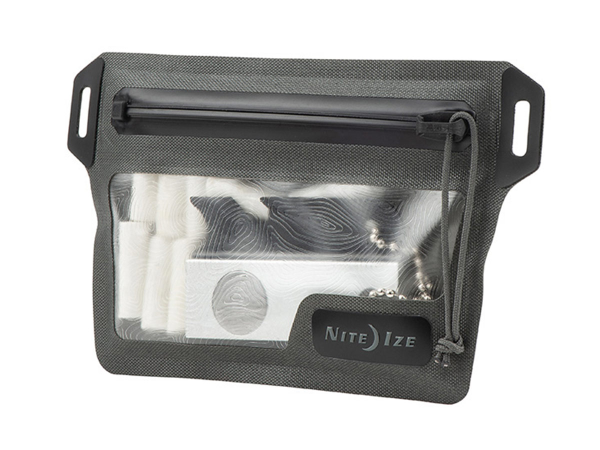 nite ize waterproof wallet with contents showing