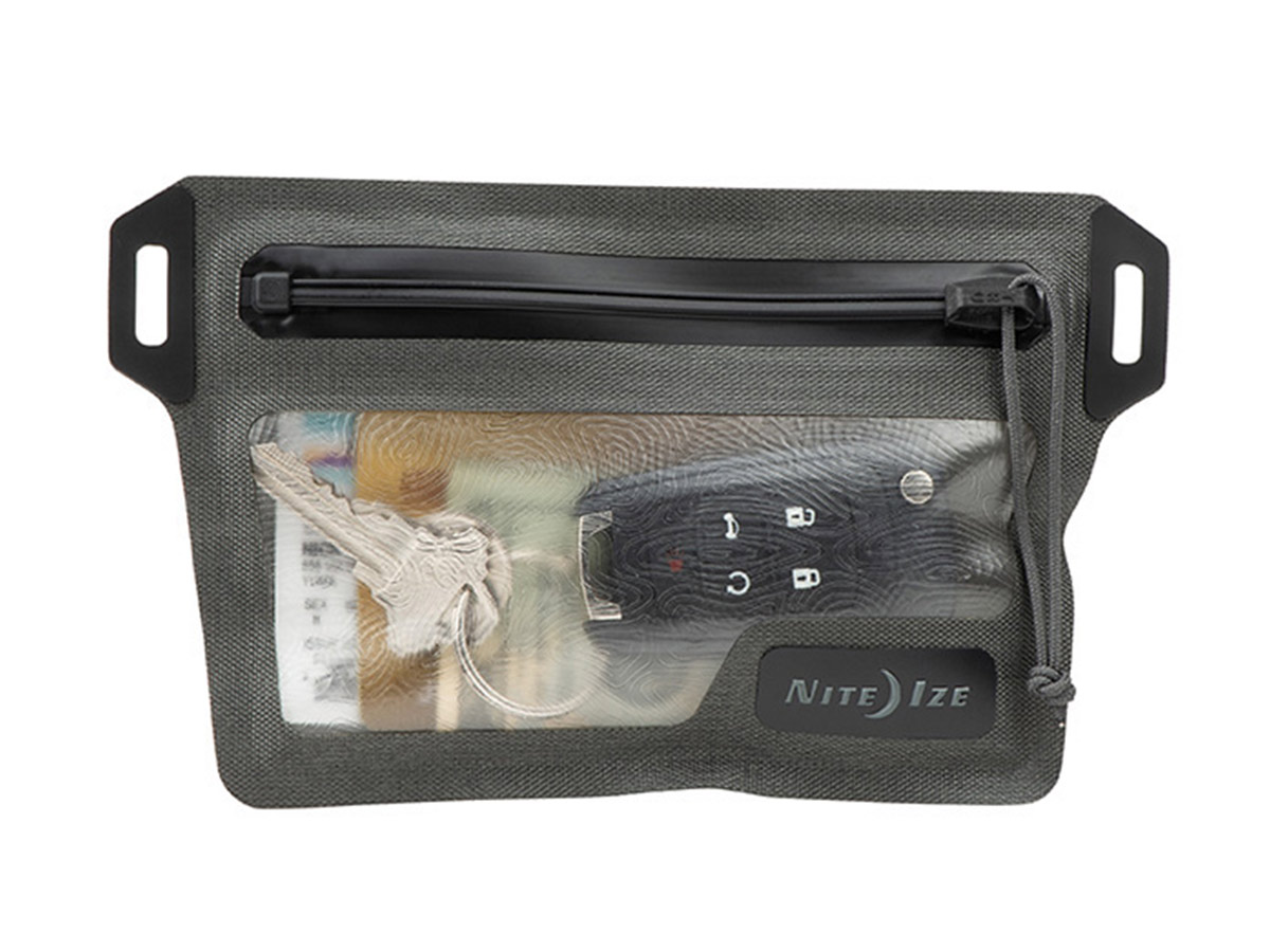 nite ize waterproof wallet with a different set of contents
