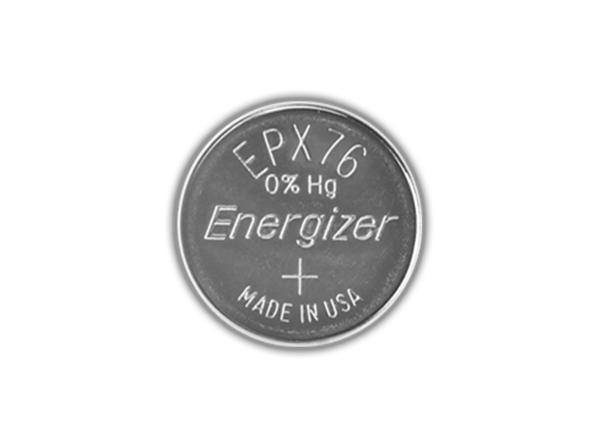 Energizer EPX76 watch battery front view