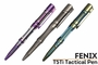 Fenix T5 tactical pen in Aurora Purple, Space Grey, and Storm Blue