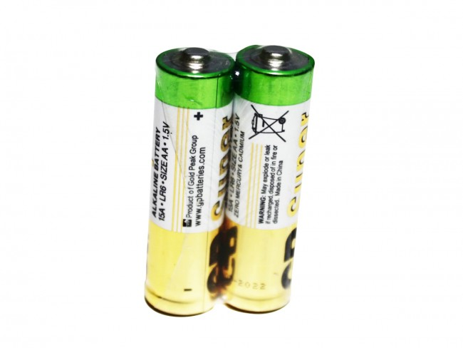 Gold Peak AA batteries in shrink wrap