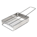 Ultimate Survival Technologies 20-12152 Collapsible Stainless Steel Heritage Packable Grill - Silver