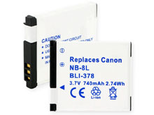 Empire BLI-378 740mAh 3.7V Replacement Lithium Ion (Li-Ion) Digital Camera Battery Pack for the Canon NB-8L