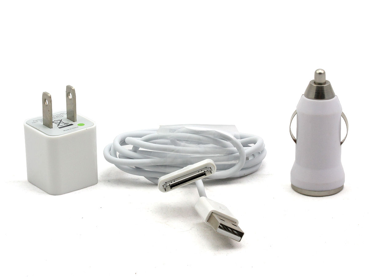 White Version of the I-Charge USB Charger Kit