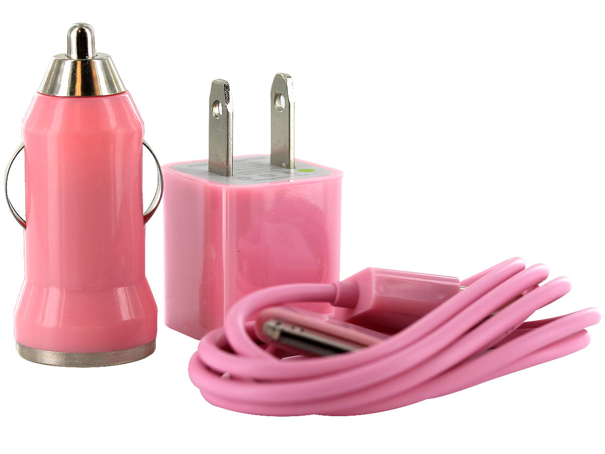 Pink Version of the I-Charge USB Charger Kit
