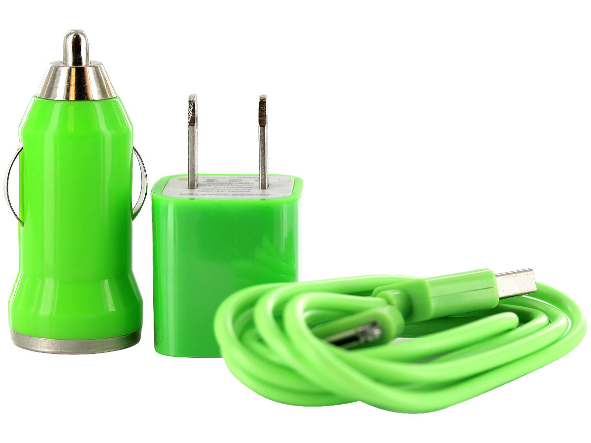 Green Version of the I-Charge USB Charger Kit