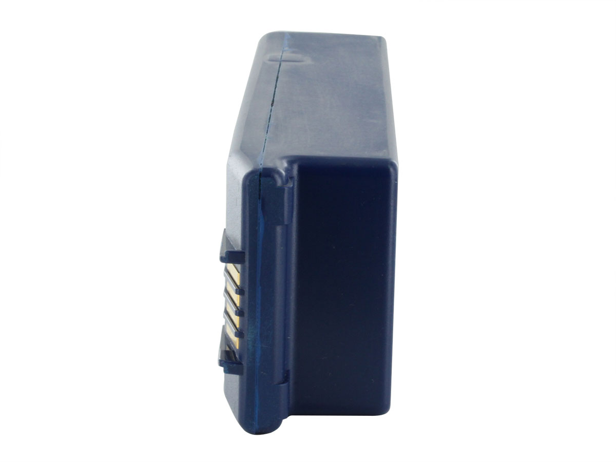 Cardiac Science AED Replacement Battery Pack 9146 - Blue -  showing the right end of the battery