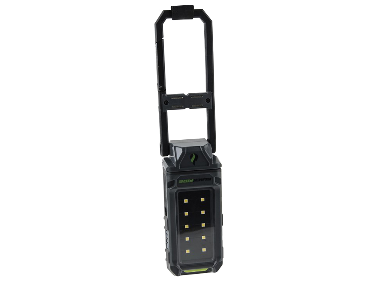 blackfire WLMC1 compact light and power bank with hanging functionality shown