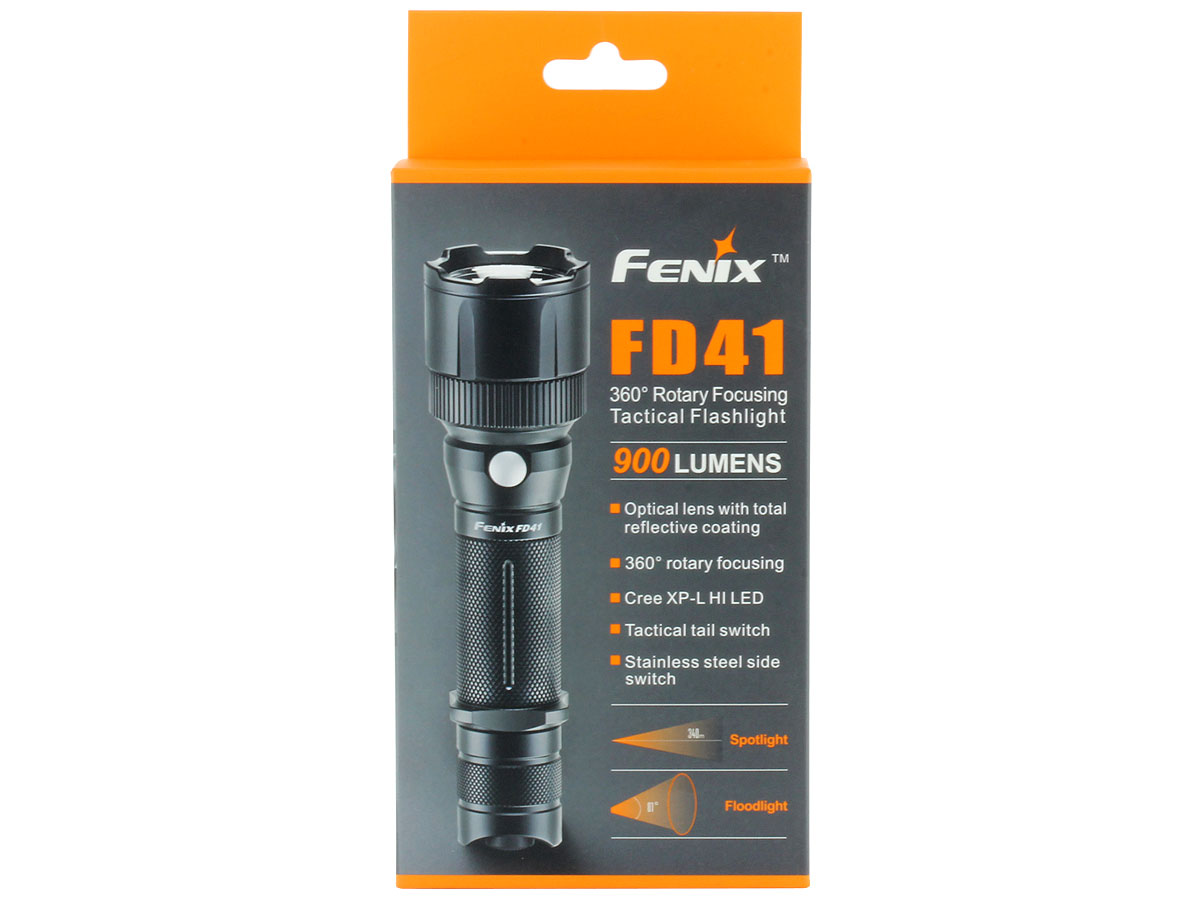 Packaging for Fenix FD41 flashlight