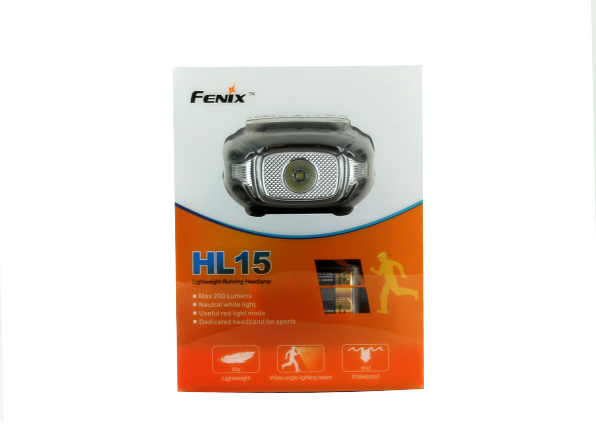 Packaging for Fenix HL15 headlamp