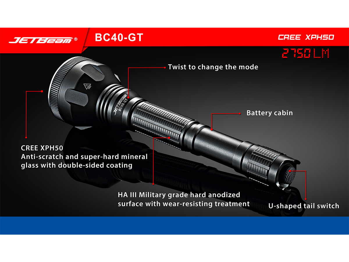 Slide two for JETBeam BC40-GT flashlight