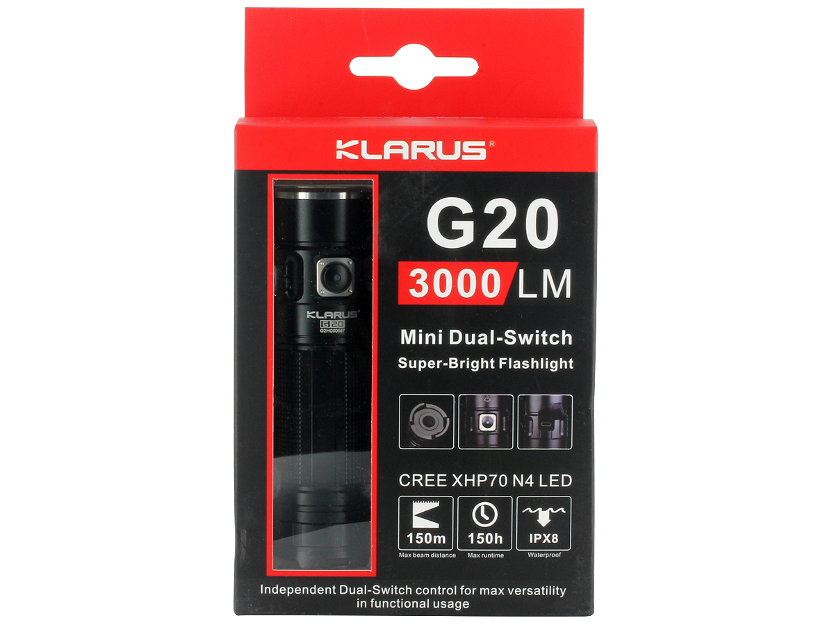 Packaging for Klarus G20