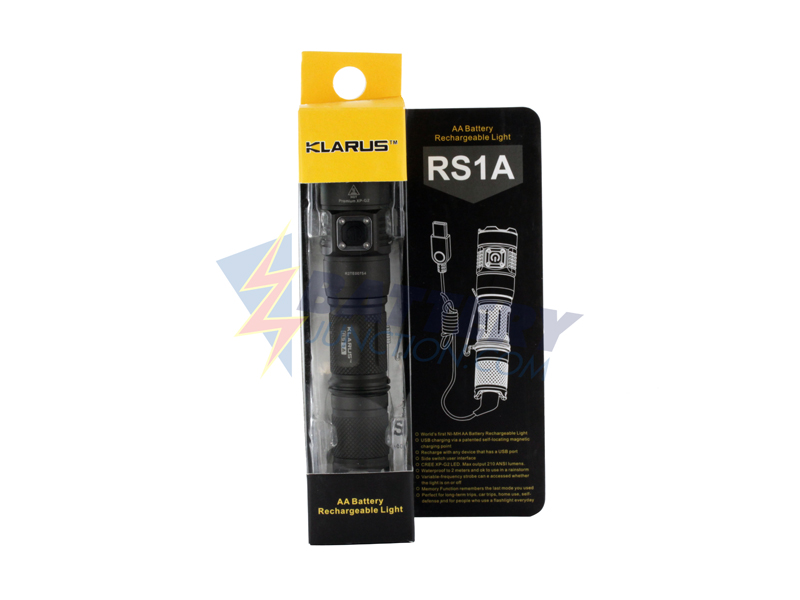 Packaging for Klarus RS1A flashlight