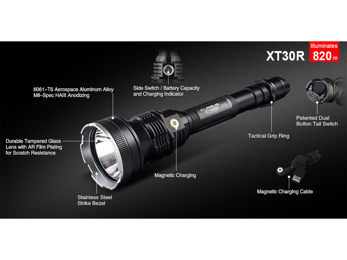 Klarus XT30R has many features