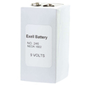 Exell 246 PP6 9V Alkaline Industrial Battery for Radios , Microphone, - Replaces Eveready 246