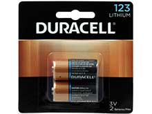 Duracell Ultra DL123A (2PK) CR123A 1470mAh 3V Lithium (LiMNO2) Button Top Photo Batteries - 2 Pack Retail Card