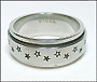 Star Stainless Steel Spin Ring