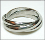 High Polished Stainless Steel Russian Wedding Three-Band Ring 7, 8, 9, 10, 11, 12