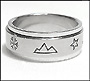 Nature Scenes Stainless Steel Spin (8 mm) Ring Size 5