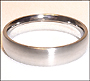 Matte Finish Stainless Steel Band  (5 mm) Ring
