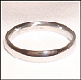 High Polished Stainless Steel Band  (3 mm) Ring