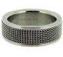 Stainless Steel Ring with Mesh Pattern 7 - 12