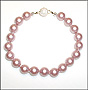 Swarovski Powder Rose Pearl  (8 mm) Bracelet