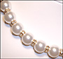 "Swarovski White Pearl  (12mm) Necklace with Rondelle  (Plus Size 18"")"