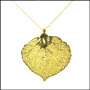 Gold Aspen Leaf Necklace