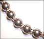 "Swarovski Tahitian Pearl  (12mm) Necklace with Rondelle  (Plus Size 18"")"