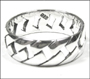 Men's Polished Silver Celtic Weave Band Ring Plus Size 14