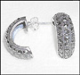 Marcasite Sterling Silver Hoop Earrings