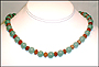 "Jade Necklace with Carnelian Rondelle (Plus Size 18"")"