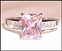 Pink Princess CZ Ring in Silver