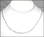 Men's Silver Rope Chain Necklace 22""